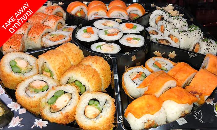 4 מגש סושי דגים וצמחוני ממסעדת אומאמי, חיפה