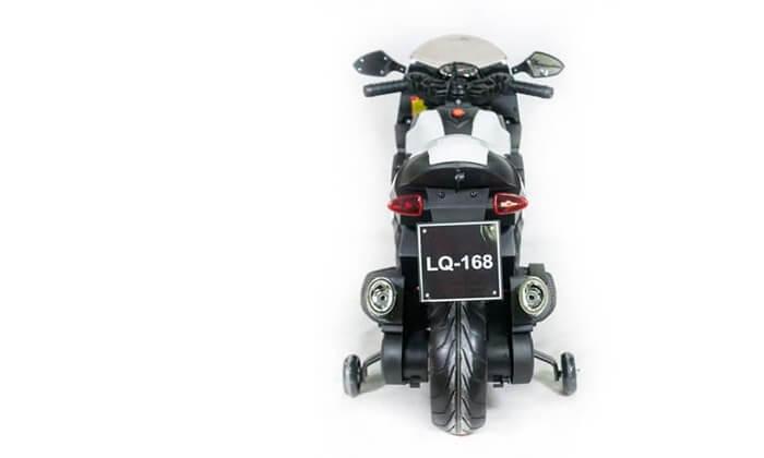 4 אופנוע ממונע עם גלגלי עזר לילדים