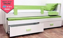 מיטת ילדים נפתחת עם מעקה
