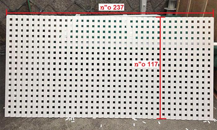 5 סבכת PVC רב תכליתית