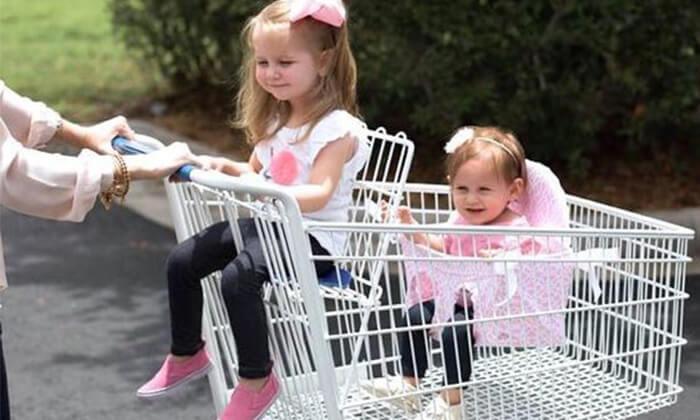 2 מושב מתקפל לעגלת קניות Buggy Bench