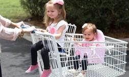 מושב מתקפל לעגלת קניות