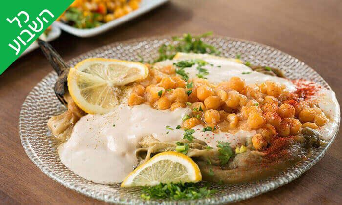 6 ארוחה זוגית במסעדת אבו זאקי - בן יהודה, תל אביב