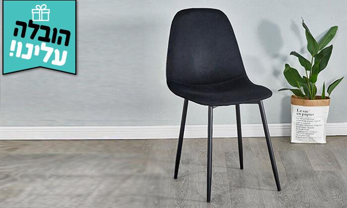 7 כיסא לפינת אוכל בריפוד קטיפה - משלוח חינם