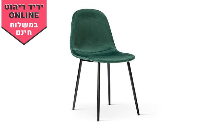 5 כיסא לפינת אוכל בריפוד קטיפה - צבעים לבחירה ומשלוח חינם