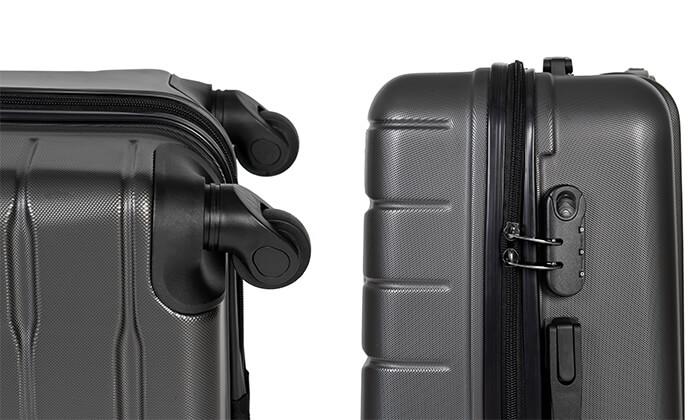 12 סט 3 מזוודות קשיחות SWISS