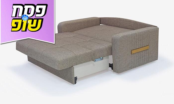 5 ספה דו מושבית מרופדת הנפתחת למיטה זוגית