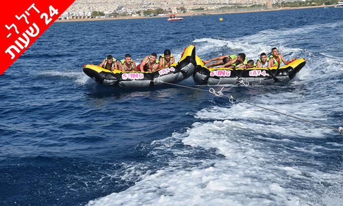 13 דיל ל-24 שעות: שייט על סירת טורנדו ואבובים, חוף נביעות אילת