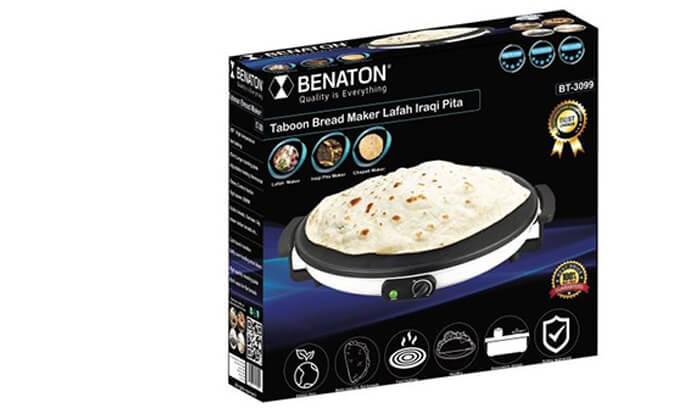 3 מכשיר טאבון חשמלי להכנת קרפים BENATON