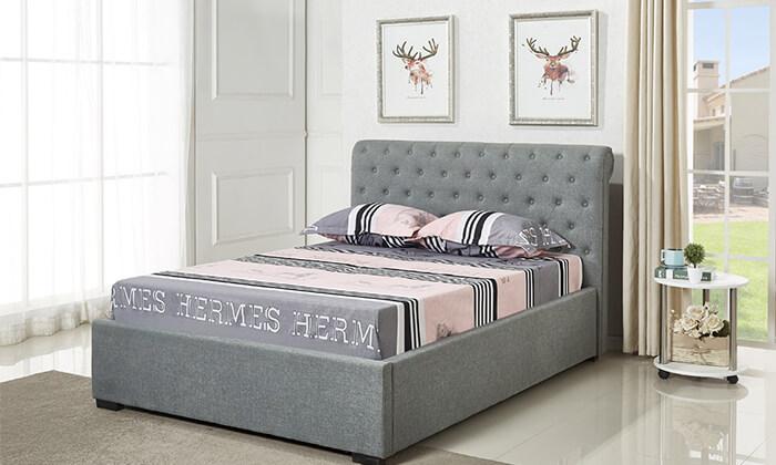 2 מיטת נוער מרופדת ברוחב וחצי הום דקור HOME DECOR