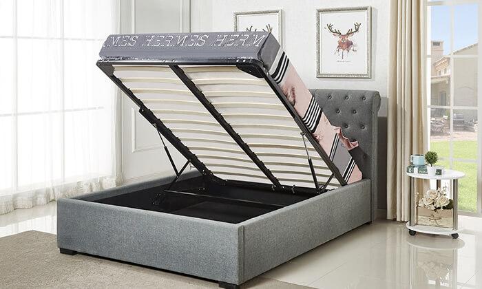 3 מיטת נוער מרופדת ברוחב וחצי הום דקור HOME DECOR
