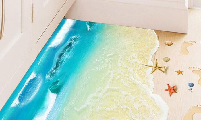 2 מדבקות רצפה תלת מימד לעיצוב הבית