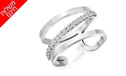 טבעת יהלומים לאישה 14K