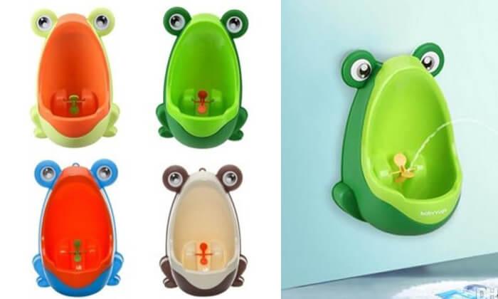 2 משתנון ילדים בעיצוב צפרדע
