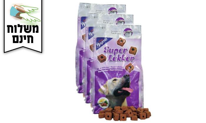 3 3 אריזות חטיפים רכים לכלב Super Lekker - משלוח חינם