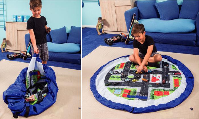 2 משטח משחק מתקפל לשק צעצועים