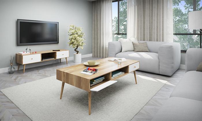 14 סט שולחן סלון ומזנון