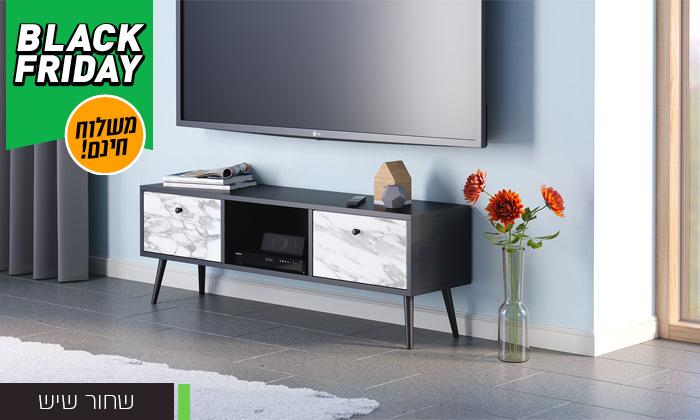 3 סט שולחן סלון נאפולי ומזנון טלוויזיה רומא במבחר צבעים - משלוח חינם