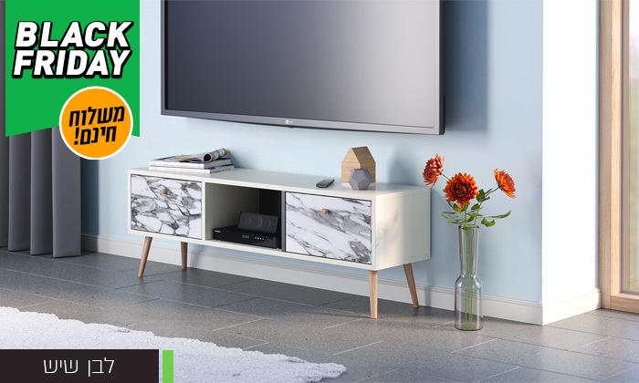 4 סט שולחן סלון נאפולי ומזנון טלוויזיה רומא במבחר צבעים - משלוח חינם