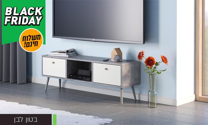 5 סט שולחן סלון נאפולי ומזנון טלוויזיה רומא במבחר צבעים - משלוח חינם
