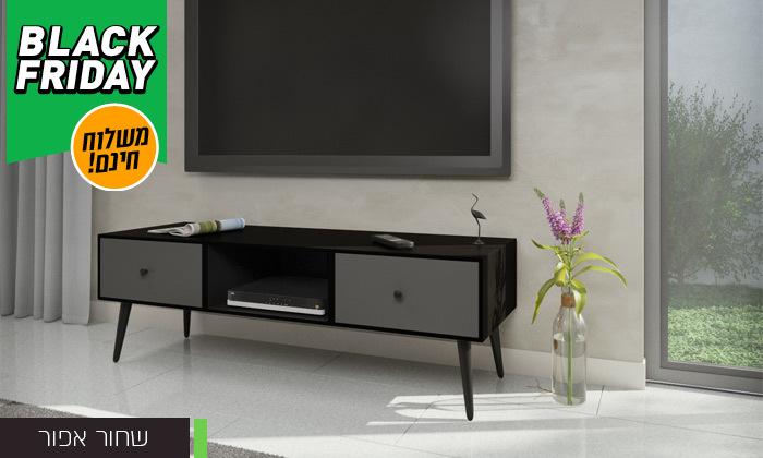 7 סט שולחן סלון נאפולי ומזנון טלוויזיה רומא במבחר צבעים - משלוח חינם