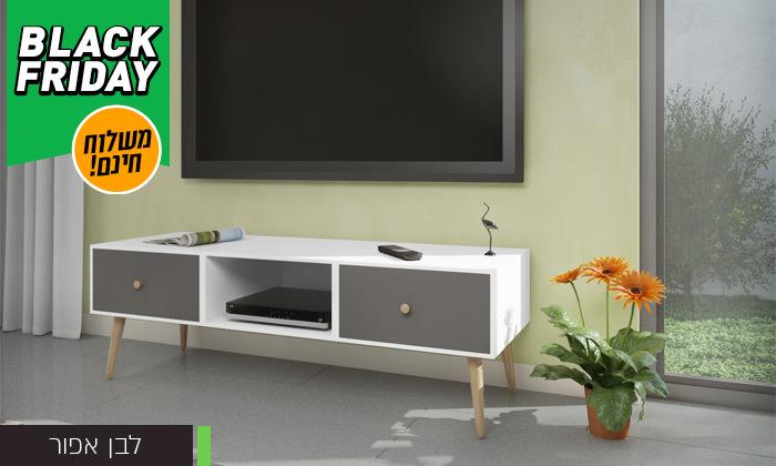 8 סט שולחן סלון נאפולי ומזנון טלוויזיה רומא במבחר צבעים - משלוח חינם