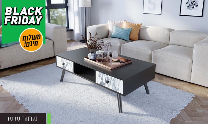 10 סט שולחן סלון נאפולי ומזנון טלוויזיה רומא במבחר צבעים - משלוח חינם