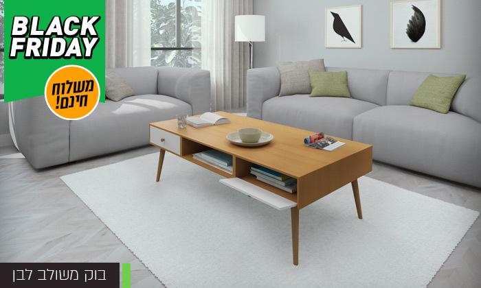 13 סט שולחן סלון נאפולי ומזנון טלוויזיה רומא במבחר צבעים - משלוח חינם