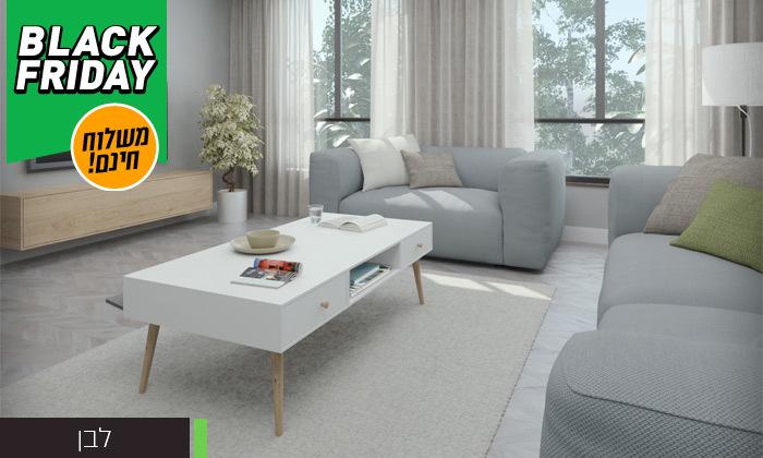 16 סט שולחן סלון נאפולי ומזנון טלוויזיה רומא במבחר צבעים - משלוח חינם