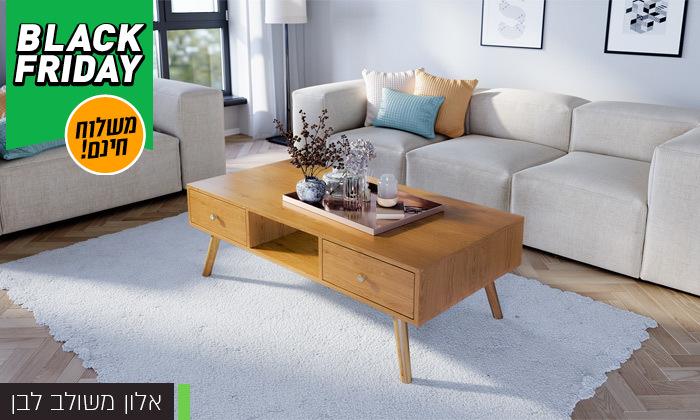 17 סט שולחן סלון נאפולי ומזנון טלוויזיה רומא במבחר צבעים - משלוח חינם