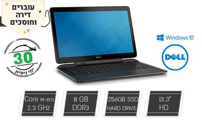 """2 מחשב נייד מחודש DELL, דגם E7350מסדרת Latitude עם מסך מגע """"13, זיכרון 8GB ומעבד m5, כולל תיק צד"""