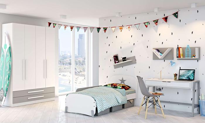 """3 רהיטי סוכריה: מדף לחדר ילדים, דגם ריו ברוחב 80 ס""""מ"""