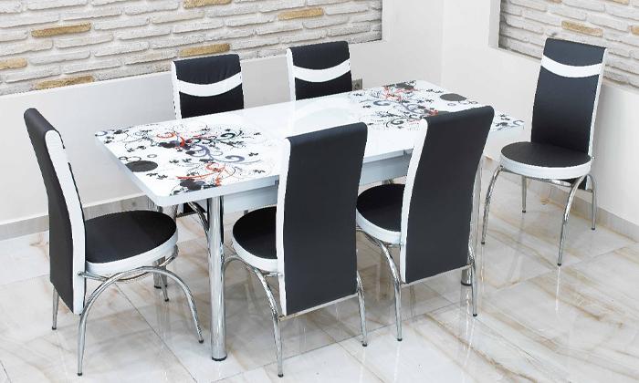 2 פינת אוכל נפתחת ו-4 כיסאות Or-Design