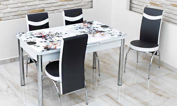 3 פינת אוכל נפתחת ו-4 כיסאות Or-Design