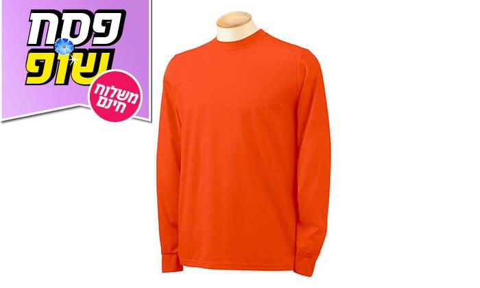4 מארז 4 חולצות שרוול ארוך מנדפות זיעה - משלוח חינם!