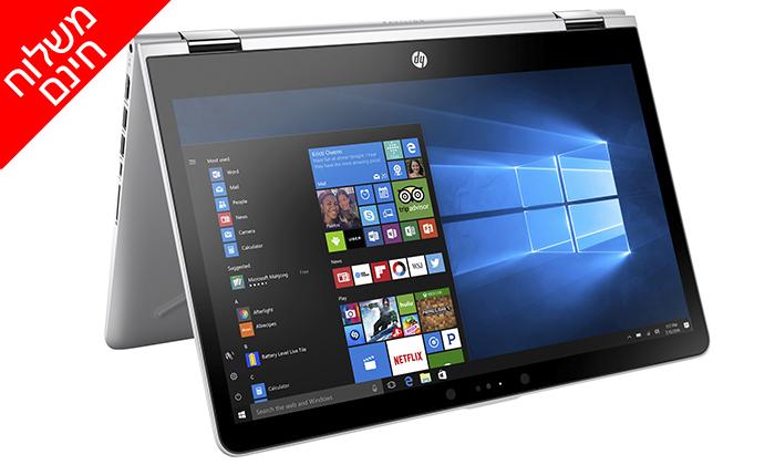3 מחשב ניידHP עם מסך מגע 15.6 אינץ' - משלוח חינם
