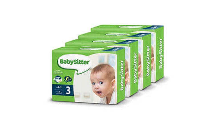 9 מארז 4 חבילות חיתולי נוחות בייביסיטר Babysitter