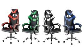 כיסא גיימינג גבוה עם 2 כריות