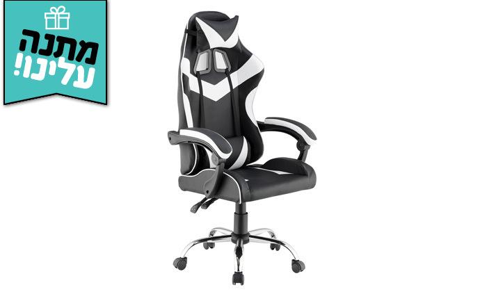 4 כיסא גיימרים עם מבנה ארגונומי כולל משטח טעינה אלחוטי