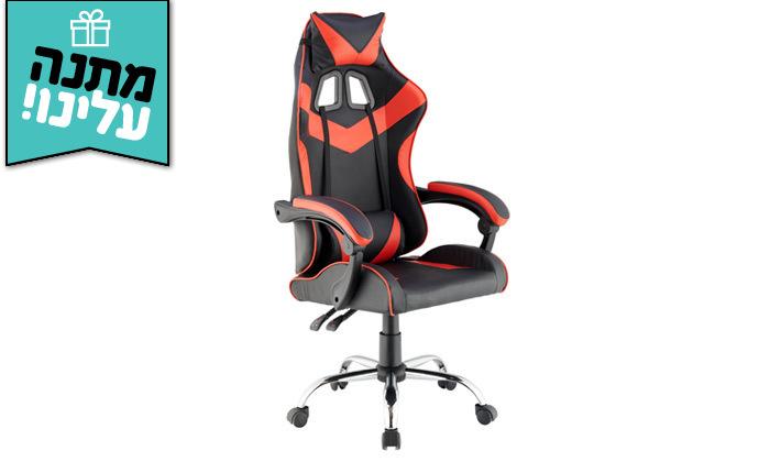 5 כיסא גיימרים עם מבנה ארגונומי כולל משטח טעינה אלחוטי
