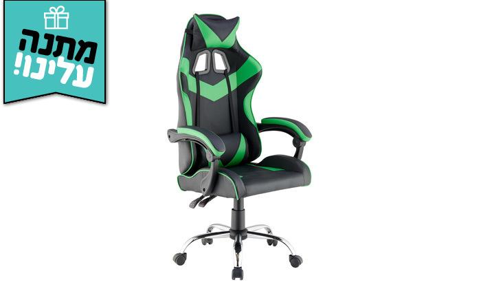 6 כיסא גיימרים עם מבנה ארגונומי כולל משטח טעינה אלחוטי