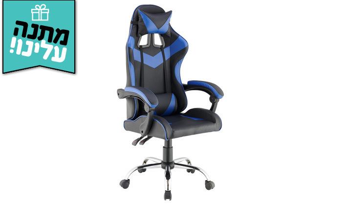 7 כיסא גיימרים עם מבנה ארגונומי כולל משטח טעינה אלחוטי