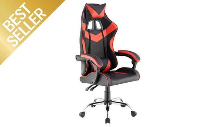4 כיסא גיימרים עם מבנה ארגונומי