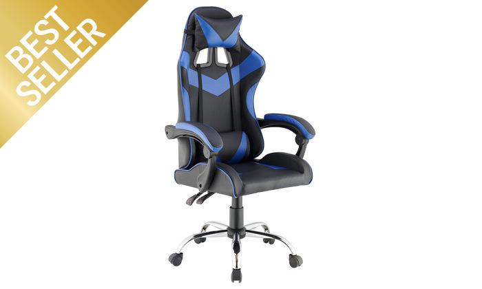 6 כיסא גיימרים עם מבנה ארגונומי