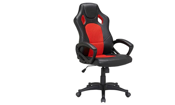 4 כיסא מנהלים דגם SILVER STONE בריפוד דמוי עור - משלוח חינם