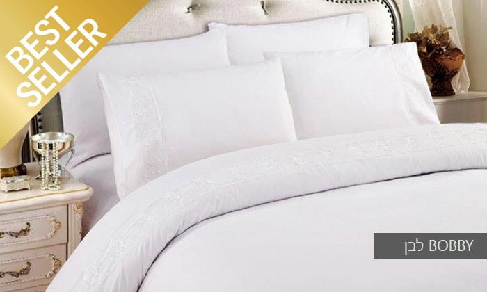 15 סט מצעים משולב תחרה למיטת יחיד או זוגית במבחר צבעים
