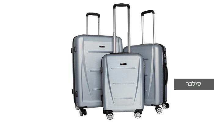 4 סט 3 מזוודות קשיחותSWISS