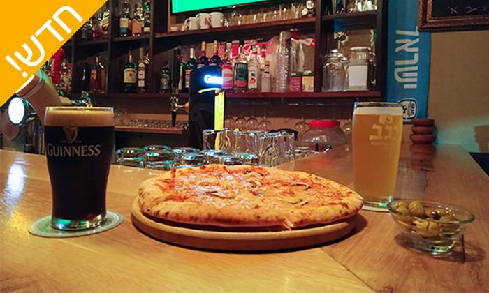 2 בירה ופיצה זוגית בששון בר, באר שבע