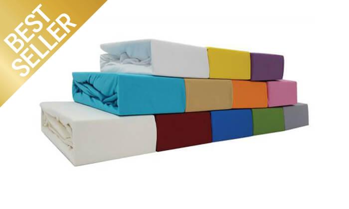 6 סט מצעי טריקו ג'רסי 100% כותנה - צבעים לבחירה