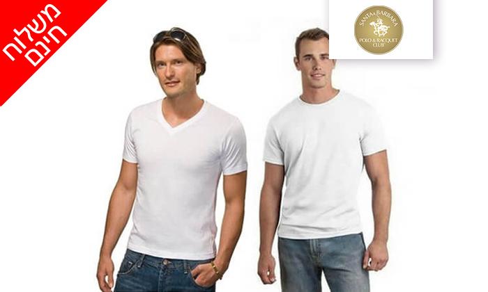 3 דיל ל-72 שעות- סט 9 חולצות טי לגברים SANTA BARBARA POLO CLUB - משלוח חינם